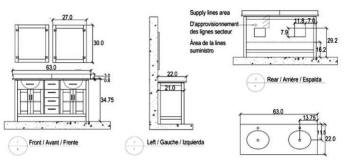 63 Asta Double Sink Vanity Rough In Diagram Click To Enlarge
