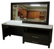 ADA Compliant Bathroom Vanity   Also Available Are Matching Set Linen Tower  Cabinets, Click Here. Completed In A Neutral Espresso Finish Offers  Organized, ...