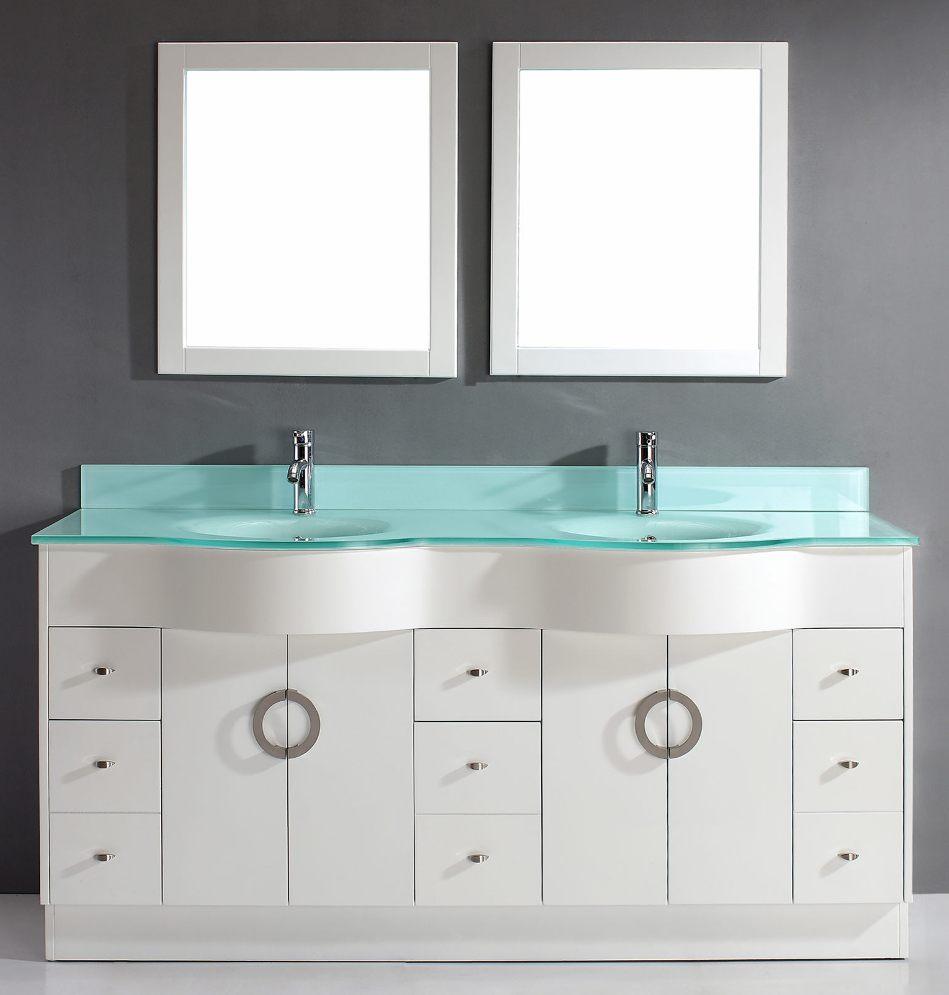 72inch Circa Vanity | Glass Top Vanity | Quartz Top Vanity | Carrara ...