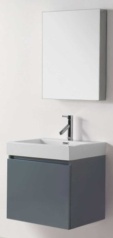 18 Deep Grey Sink Vanity W 22 X D H 23