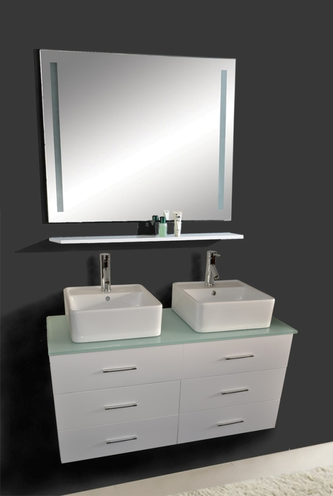 47 Inch Hunter Vanity Wall Hung Vanity White Sink Vanity