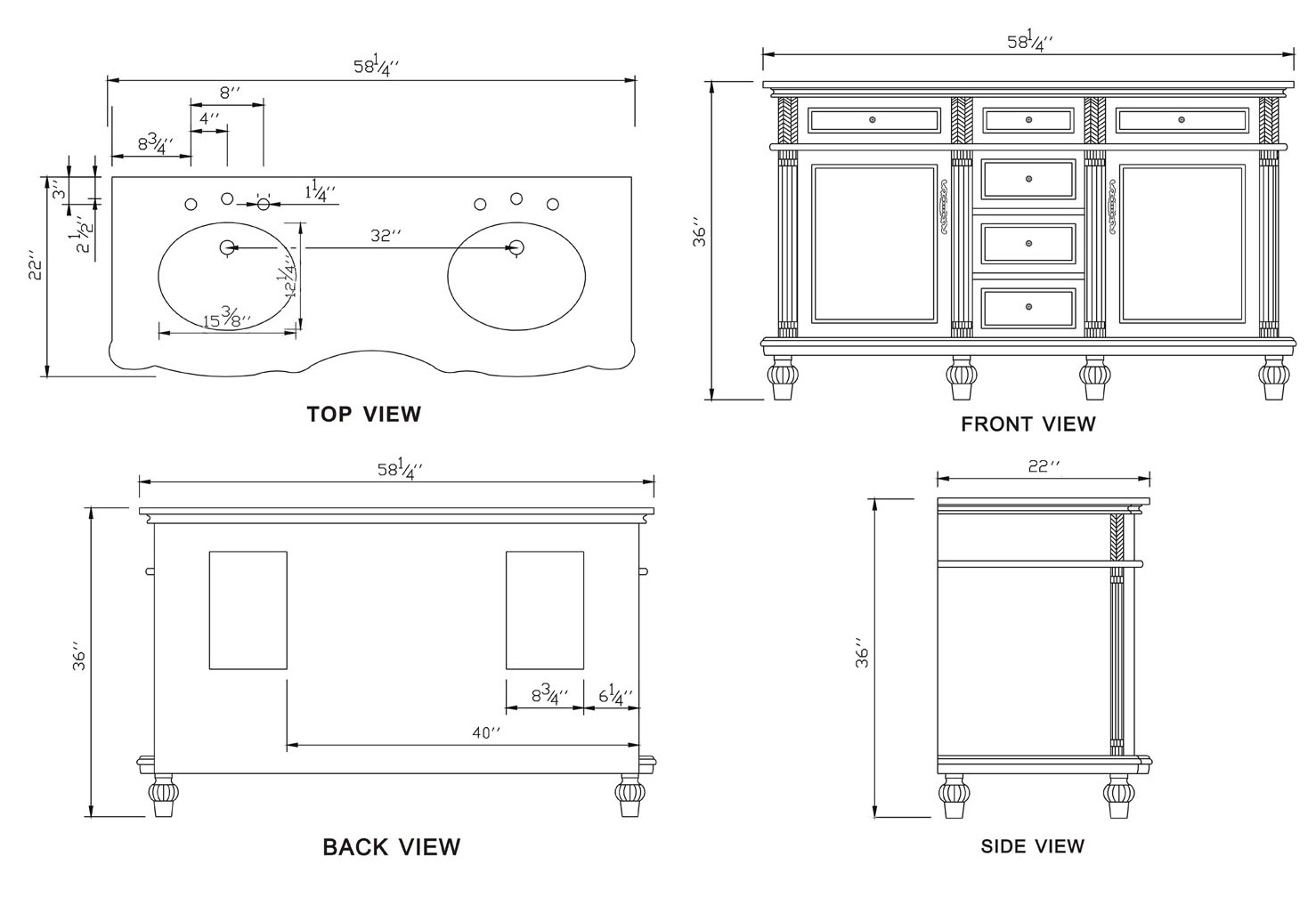 bathroom sink dimensions standard viewing gallery