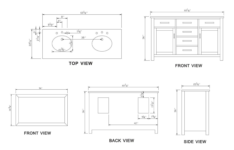 Double bathroom sink plumbing diagram -  Of