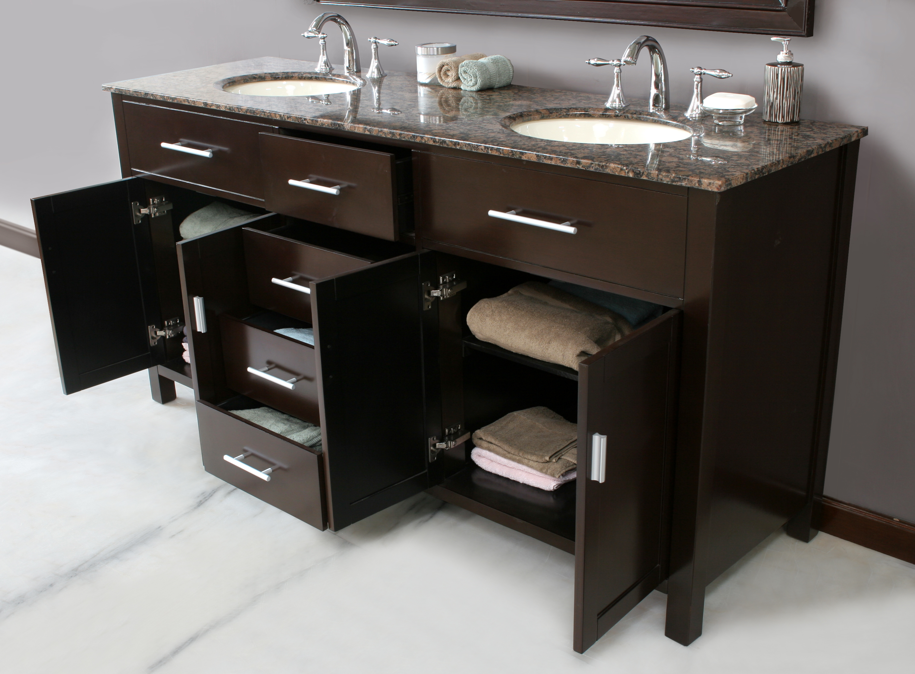 72-inch Vermont Vanity | Double Sink Vanity | Vanity with Mirror