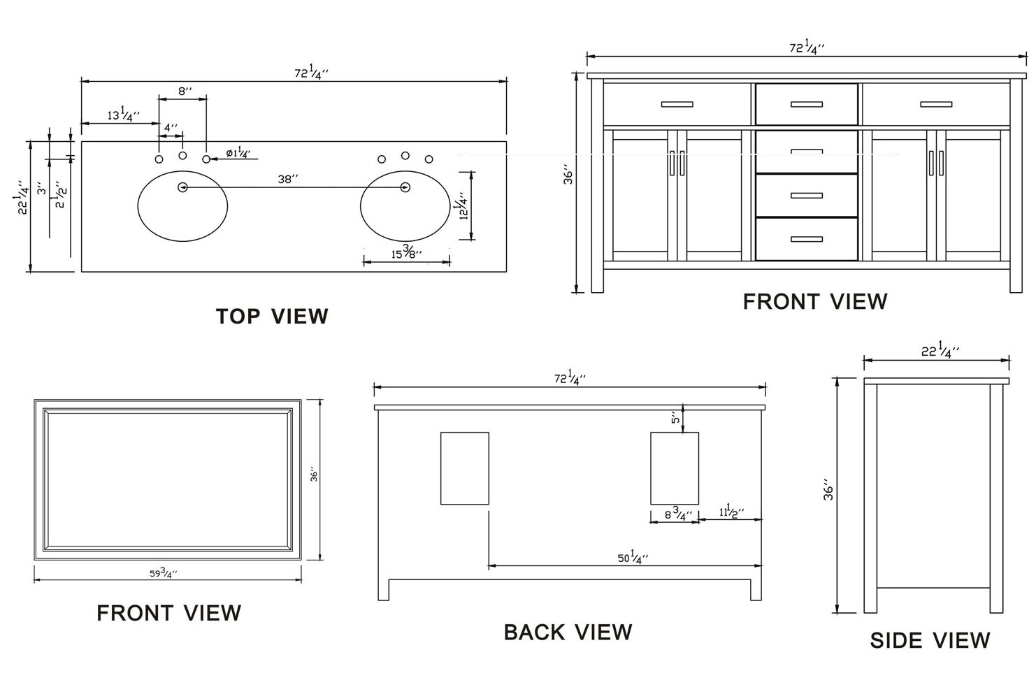 Double Bathroom Vanity Measurements 72-inch vermont vanity | double sink vanity | vanity with mirror