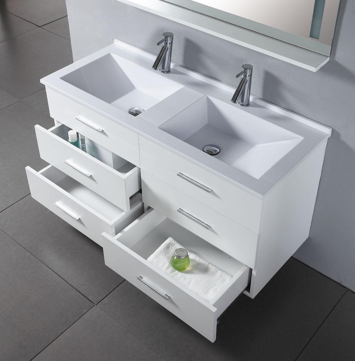 47-inch royal vanity | wall hung vanity | white sink vanity