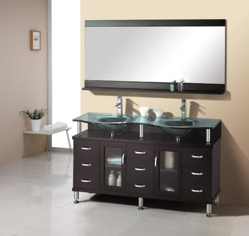 Solid Oak Wood Vanity Contemporary Vanities Bathroom Vanity Set