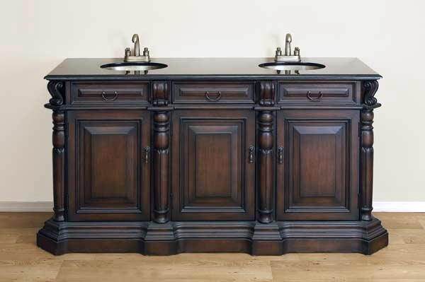 66 inch wide miltonia vanity For66 Inch Bathroom Vanity Cabinets