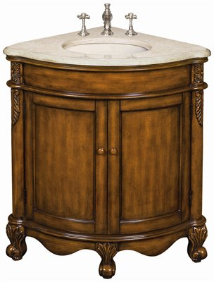 Jody Corner Sink Vanity Is A Corner Bathroom Cabinet Specially Designed For  Smaller Bathrooms. This Single Corner Vanity Is Carefully Handcrafted Of  Sturdy ...